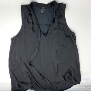 Black Forever 21 silk top